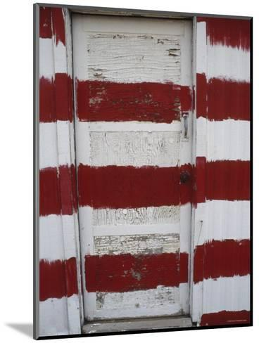 Red and White Painted Door, Arizona-Dawn Kish-Mounted Photographic Print