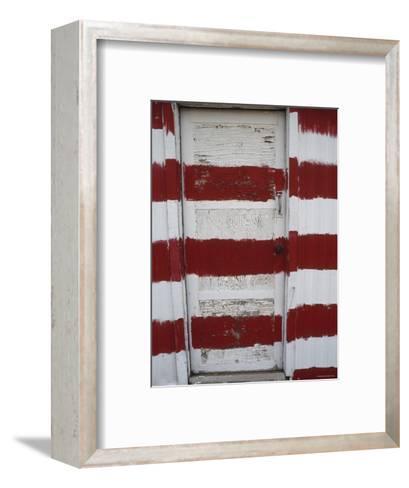 Red and White Painted Door, Arizona-Dawn Kish-Framed Art Print