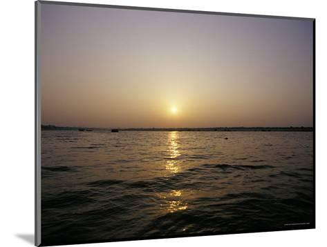 Peaceful Scene of the Holy Ganges River Aka the Ganga River at Dawn-Jason Edwards-Mounted Photographic Print