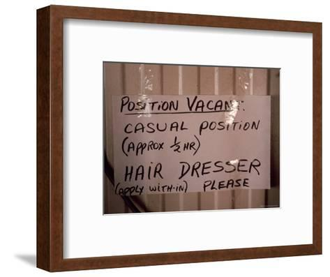 Outback Cattle Station Owners Wife Advertises for a Hair Dresser, Australia-Jason Edwards-Framed Art Print