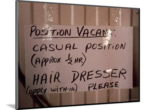 Outback Cattle Station Owners Wife Advertises for a Hair Dresser, Australia-Jason Edwards-Mounted Photographic Print