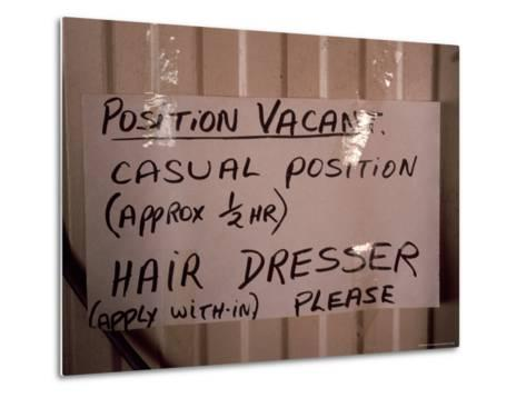 Outback Cattle Station Owners Wife Advertises for a Hair Dresser, Australia-Jason Edwards-Metal Print