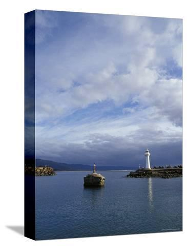 Lighthouse and Beacon at the Mariner Entrance to a Safe Port, Australia-Jason Edwards-Stretched Canvas Print