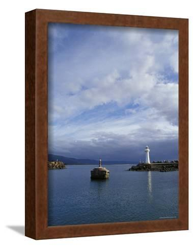 Lighthouse and Beacon at the Mariner Entrance to a Safe Port, Australia-Jason Edwards-Framed Art Print