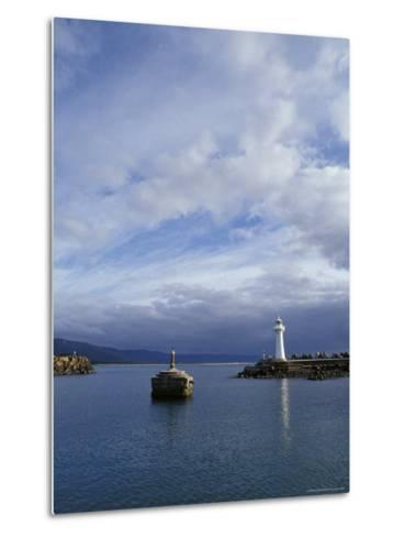 Lighthouse and Beacon at the Mariner Entrance to a Safe Port, Australia-Jason Edwards-Metal Print