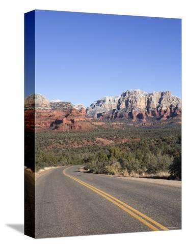 Road in Sedona Arizona, USA-John Burcham-Stretched Canvas Print