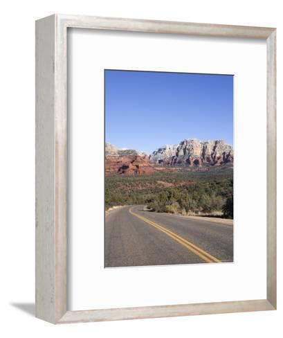 Road in Sedona Arizona, USA-John Burcham-Framed Art Print