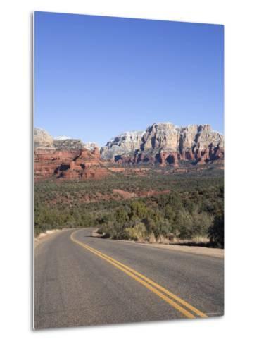 Road in Sedona Arizona, USA-John Burcham-Metal Print