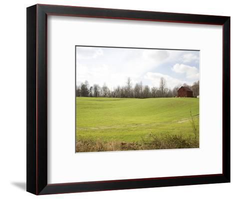Rural Farmlands Provide a Scenic View-Stephen St^ John-Framed Art Print