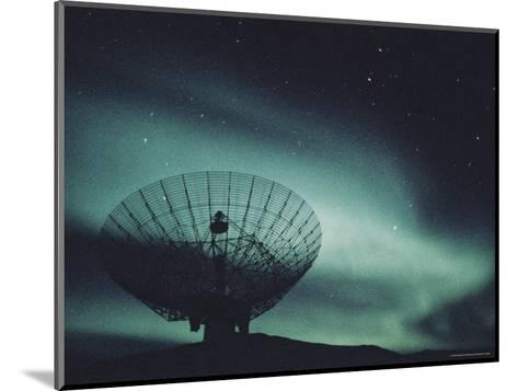 Northern Lights above a Radar Station in Greenland-Kenneth Garrett-Mounted Photographic Print