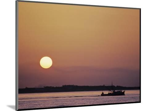Oyster Boat on the Chesapeake at Sunset-Kenneth Garrett-Mounted Photographic Print