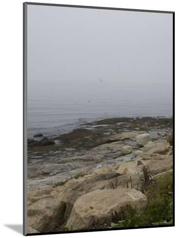 New London Ledge Light in the Dense Fog as Seen from the Shore-Todd Gipstein-Mounted Photographic Print