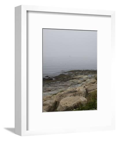 New London Ledge Light in the Dense Fog as Seen from the Shore-Todd Gipstein-Framed Art Print