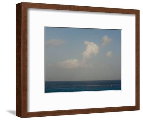 Looking Across the Caribbean Toward the Yucatan Mainland, Cozumel, Mexico-Michael S^ Lewis-Framed Art Print