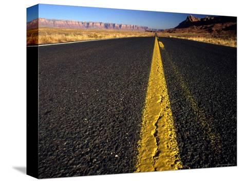 Lonley Stretch of Desert Road, Utah-Kate Thompson-Stretched Canvas Print