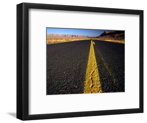 Lonley Stretch of Desert Road, Utah-Kate Thompson-Framed Art Print