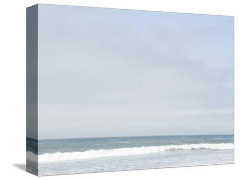 Landscape View of Ocean and Wave Breaking, Santa Barbara, California-James Forte-Stretched Canvas Print