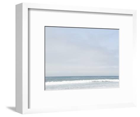Landscape View of Ocean and Wave Breaking, Santa Barbara, California-James Forte-Framed Art Print