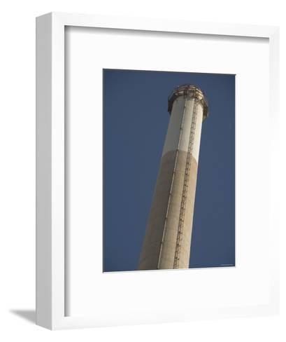 Pg&E Power Plant Stack, California-James Forte-Framed Art Print