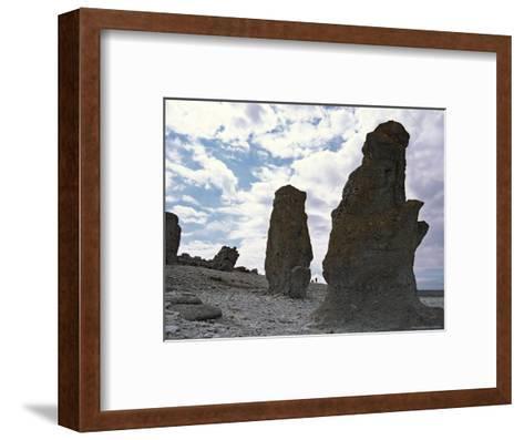 Sweden, Northern Gotland, Faro, Rock Formations-Brimberg & Coulson-Framed Art Print