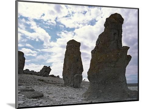 Sweden, Northern Gotland, Faro, Rock Formations-Brimberg & Coulson-Mounted Photographic Print
