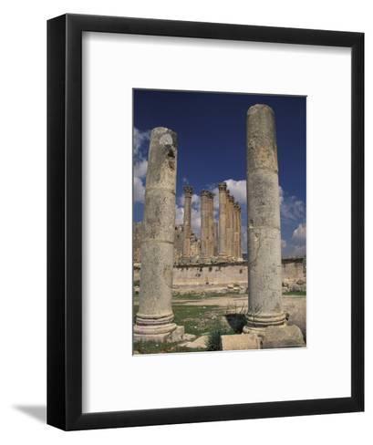 Temple of Artemis in Jaresh, Jordan-Richard Nowitz-Framed Art Print