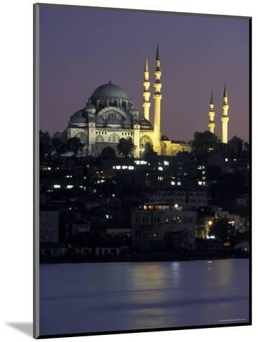 The Suleymaniye Mosque, as Seen from the Galata Bridge, Istanbul, Turkey-Richard Nowitz-Mounted Photographic Print