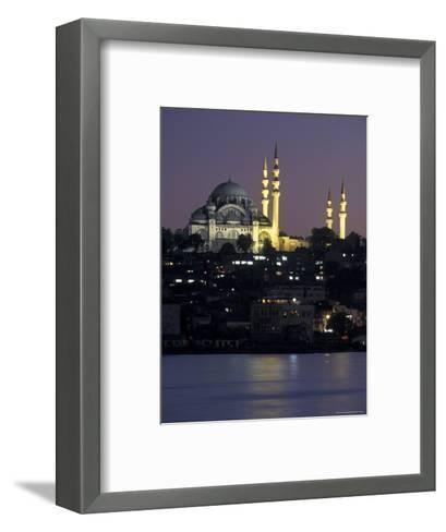 The Suleymaniye Mosque, as Seen from the Galata Bridge, Istanbul, Turkey-Richard Nowitz-Framed Art Print