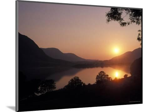 Sunset over Bassenthwaite Lake in the Lake District in England-Richard Nowitz-Mounted Photographic Print