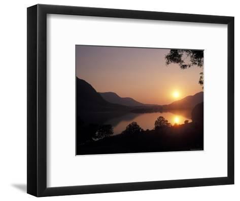 Sunset over Bassenthwaite Lake in the Lake District in England-Richard Nowitz-Framed Art Print