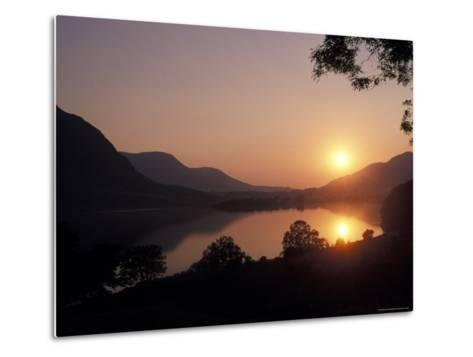 Sunset over Bassenthwaite Lake in the Lake District in England-Richard Nowitz-Metal Print
