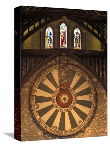 The Roundtable, Built During King Arthur's Reign, Hanging in the Great Hall in Winchester, England-Richard Nowitz-Stretched Canvas Print