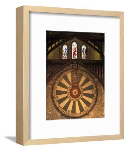 The Roundtable, Built During King Arthur's Reign, Hanging in the Great Hall in Winchester, England-Richard Nowitz-Framed Art Print