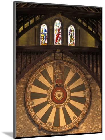 The Roundtable, Built During King Arthur's Reign, Hanging in the Great Hall in Winchester, England-Richard Nowitz-Mounted Photographic Print