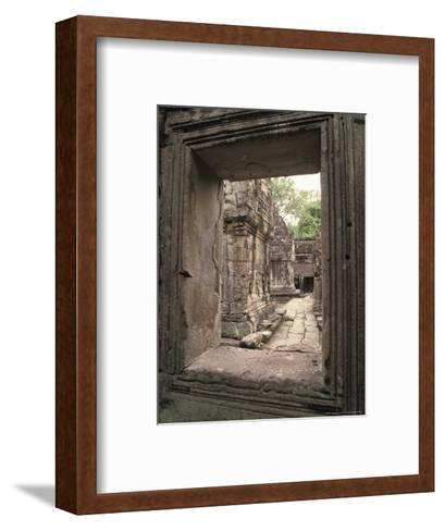 Temples of Angkor, Ta Prohm, Cambodia-Richard Nowitz-Framed Art Print