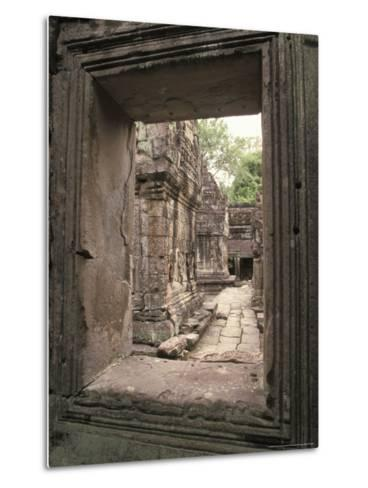 Temples of Angkor, Ta Prohm, Cambodia-Richard Nowitz-Metal Print