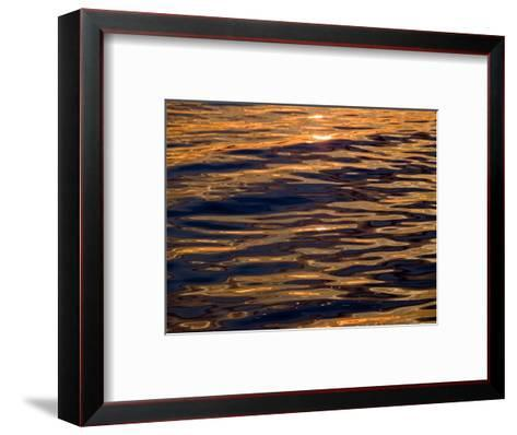 Sunset Reflected in Calm Waters, Groton, Connecticut-Todd Gipstein-Framed Art Print