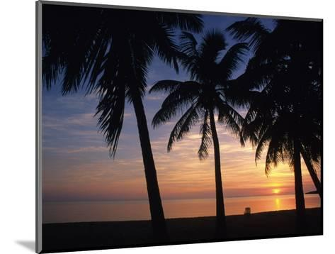 Sun Rise near Placencia, Belize-Bill Hatcher-Mounted Photographic Print