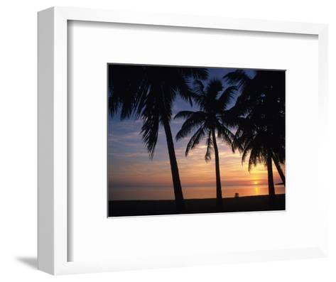Sun Rise near Placencia, Belize-Bill Hatcher-Framed Art Print