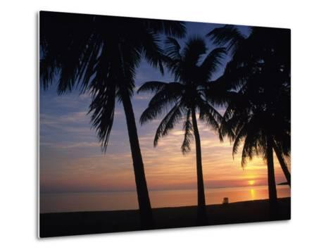 Sun Rise near Placencia, Belize-Bill Hatcher-Metal Print
