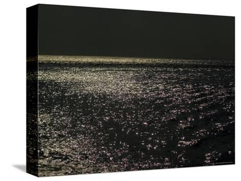 Sunlight Sparkling on the Water at Day's End-Todd Gipstein-Stretched Canvas Print