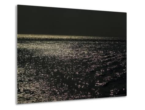 Sunlight Sparkling on the Water at Day's End-Todd Gipstein-Metal Print