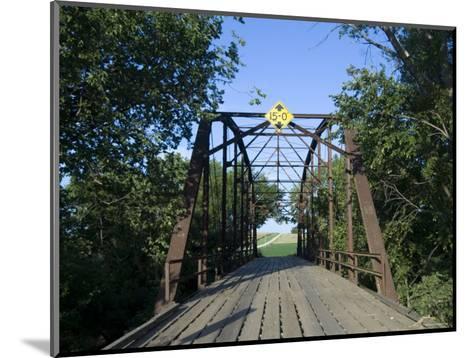 Tall Trees Surround a Wooden Bridge in Eastern Nebraska-Joel Sartore-Mounted Photographic Print