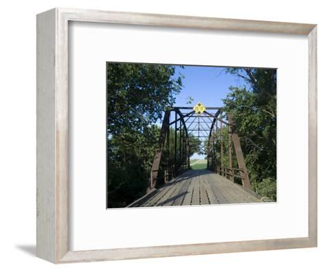 Tall Trees Surround a Wooden Bridge in Eastern Nebraska-Joel Sartore-Framed Art Print