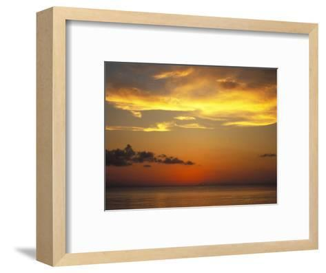 Sunset on Horizon of Caribbean Sky with Clouds-James Forte-Framed Art Print
