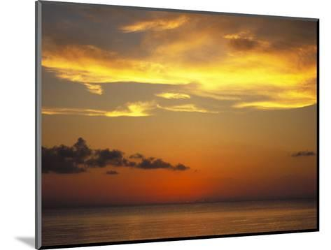 Sunset on Horizon of Caribbean Sky with Clouds-James Forte-Mounted Photographic Print