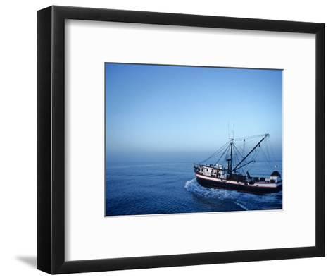 Shrimp Boat in the Gulf of Mexico-Kenneth Garrett-Framed Art Print