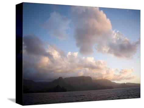Storm Clouds Rolling in over Anaho Bay, French Polynesia-Tim Laman-Stretched Canvas Print
