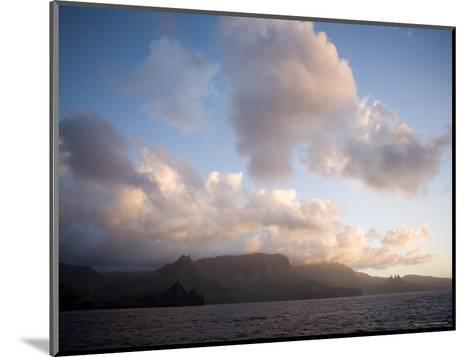 Storm Clouds Rolling in over Anaho Bay, French Polynesia-Tim Laman-Mounted Photographic Print