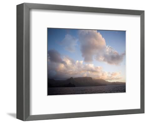 Storm Clouds Rolling in over Anaho Bay, French Polynesia-Tim Laman-Framed Art Print